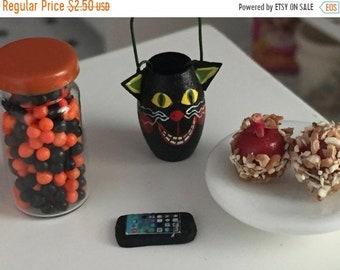 SALE Miniature Cell Phone, Dollhouse Miniature, 1:12 Scale, Mini Black Phone, Dollhouse Decor Accessory, Tiny Phone