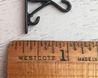 SALE Miniature Plant Hook, Black Wall Hook, Dollhouse Miniature, 1:12 Scale, Hook For Miniature Hanging Plants, Coat Hook, Dollhouse Decor