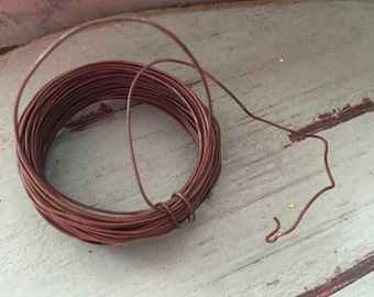 Rusty Wire Packaged 30 Foot Roll Great for Primitives Crafting Rustic Decor Floral Arrangements and More