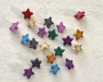 "SALE Star Buttons, ""Tiny Stars"" #1602, Packaged Novelty Buttons, Assorted Colors, Style 1602 by Buttons Galore, Buttons, Crafts, Embellishme"