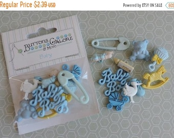 SALE Baby Boy Buttons, Embellishments and Buttons Package by Buttons Galore Style 4423, Sewing Crafting Buttons and Embellishemtns