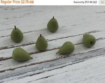SALE Miniature Pears, Dollhouse Miniature Food, 1:12 Scale, Dollhouse Accessories, Set of 6, Pretend Food, Dollhouse Kitchen, Mini Pears