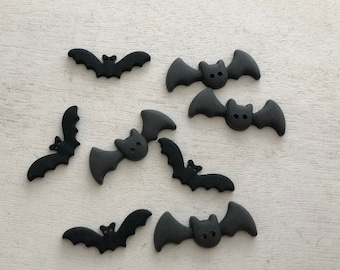"SALE Bat Buttons, Packaged Novelty Button Assortment ""Bats"" Style 4531 by Buttons Galore. 2 Hole Bat Buttons, Sewing, Crafting, Embellishmen"