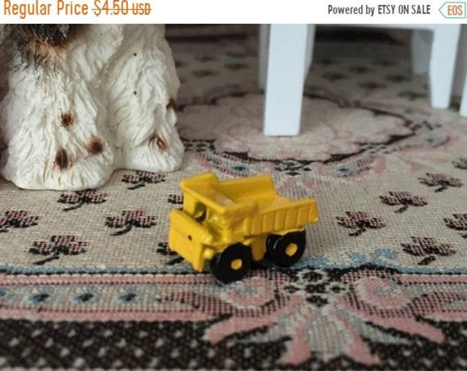SALE Miniature Dump Truck, Miniature Toy, Dollhouse Miniature, 1:12 Scale, Dollhouse Accessory, Decor, Crafts, Mini Yellow Truck