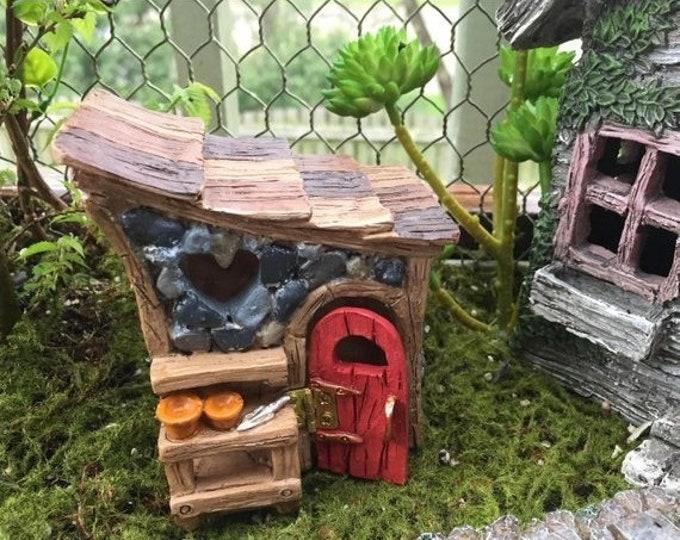 SALE Mini Garden Shed, Shingletown Fairy Garden Shed, Clearance Item, Miniature Gardening Accessory, Garden Decor