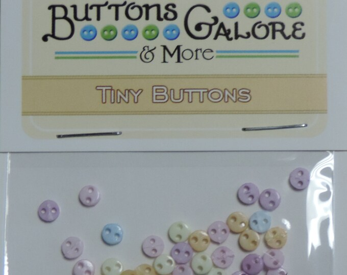 """Micro Pastel Buttons, Packaged Assortment, """"Flirt"""" Style #1806 by Buttons Galore, Sewing, Crafting Buttons, Embellishments"""