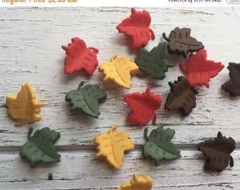 "SALE Leaf Buttons, Packaged Novelty Buttons ""Falling Leaves"" #4618 Autumn Collection, Shank Back Buttons, Embellishments"