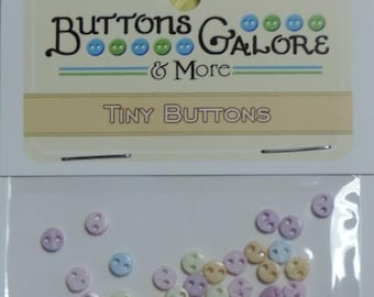 """SALE Micro Pastel Buttons, Packaged Assortment, """"Flirt"""" Style #1806 by Buttons Galore, Sewing, Crafting Buttons, Embellishments"""
