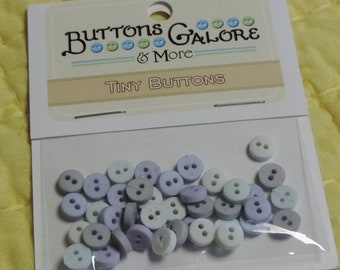 "SALE Tiny Round Buttons, 2 Hole Packaged Buttons, ""Ice""  Style #1352 by Buttons Galore. Sewing, Crafting Buttons, Embellishments"