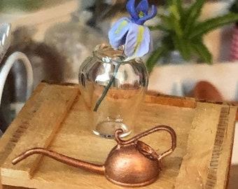SALE Miniature Glass Vase, Clear Glass Vase Style 87, Dollhouse Miniature, 1:12 Scale, Mini Flower Vase, Dollhouse Accessory, Decor, Crafts