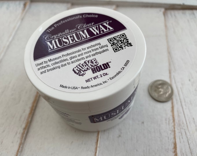 Museum Wax, 2 Oz Jar Blending Microcrystalline Wax for Securing Miniatures, Small items, Statues, Glass & More