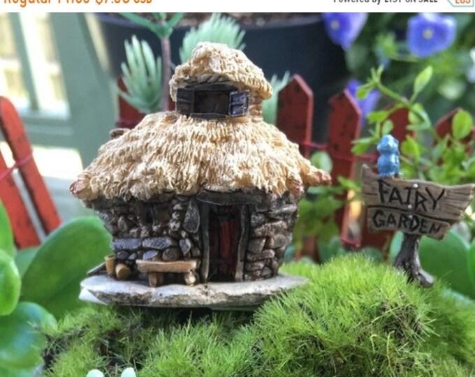 SALE Micro Mini Troll Fairy Garden House,  2 Inches Tall,  Fairy Garden Accessory, Garden Decor, Topper, Terrarium Accessory