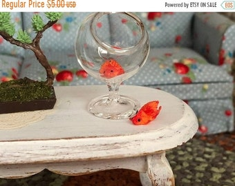 SALE Miniature Goldfish, Set of 2, Dollhouse Pets, Dollhouse Miniature 1:12 Scale, Dollhouse Accessory, Decor, Crafts