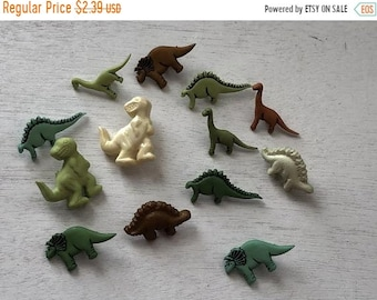 """SALE Dinosaur Buttons, Novelty Button Assortment Package by Buttons Galore, """"Dinosaurs"""" Style 4081, Shank Back Buttons, Crafting, Sewing"""