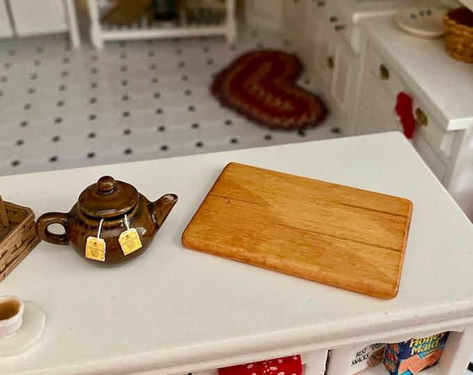 Miniature Bread Board, Cutting Board, Hand Crafted Mini Bread/Cutting Board, Dollhouse Miniature, 1:12 Scale, Dollhouse Kitchen Decor