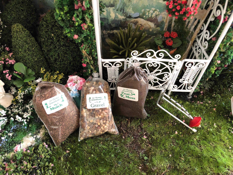 Miniature Garden Product Bags Choose Gravel Peat Moss Or Mulch
