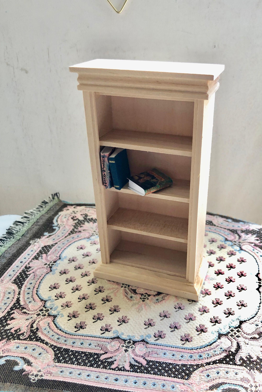 Miniature Unfinished Book Case Mini Wood Book Shelf