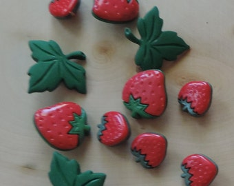 """Strawberry Buttons, Packaged Novelty Buttons, """"Summer Collection Strawberry Fields"""" Style 4097 by Buttons Galore, Sewing, Crafting Buttons"""