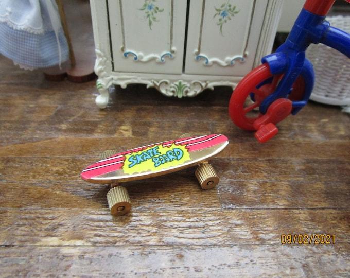 Miniature Skateboard, Style #69, Dollhouse Miniature, 1:12 Scale, Mini Skate Board, Dollhouse Accessory, Decor, Mini Toy