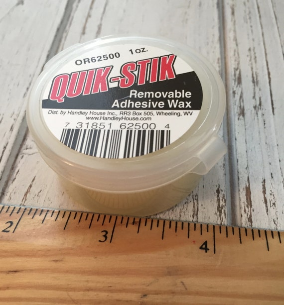 Dolls House Quik Stik Holding Wax Removable Adhesive Sticky Wax for Miniatures