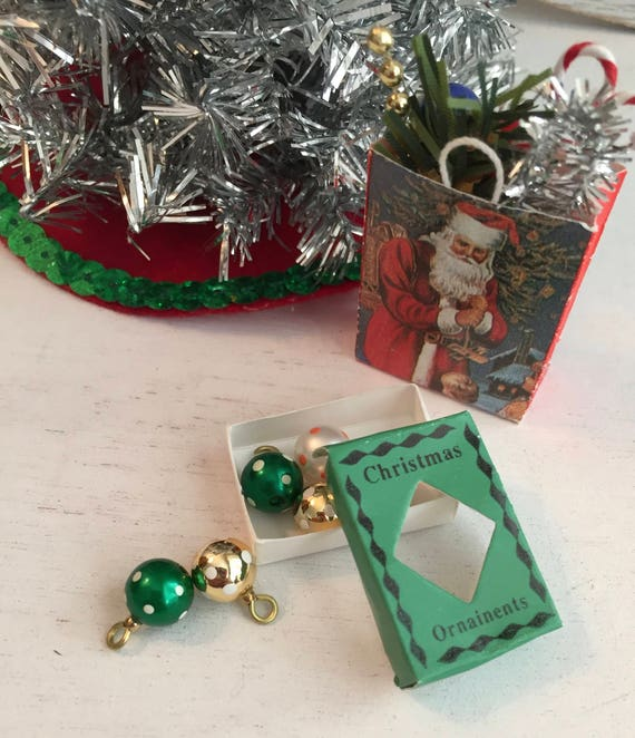 """Beautiful Set of 6 Christmas Ornaments /""""New/"""" in Box Silver Plated  Miniatures"""