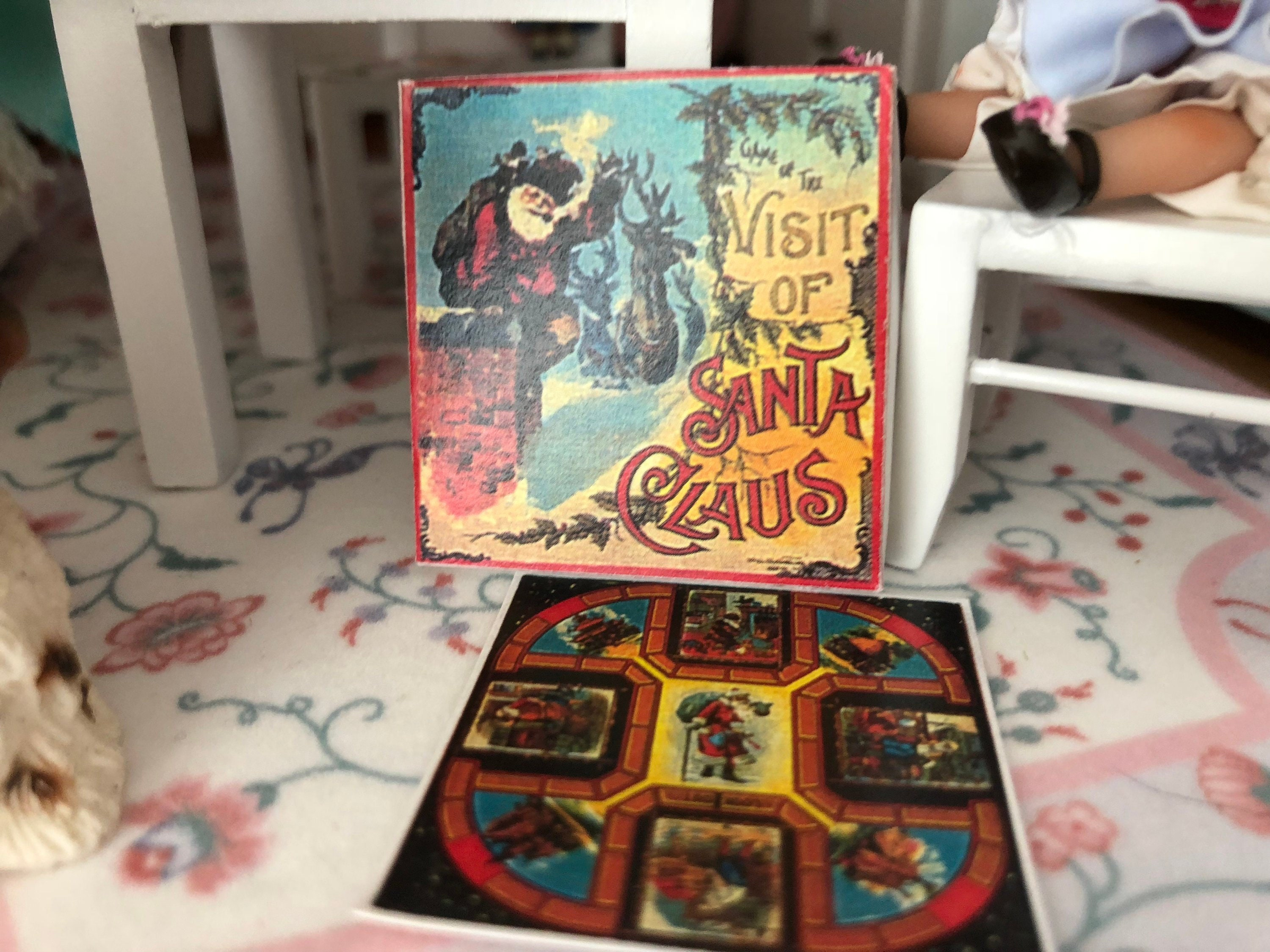 "Miniature Dollhouse /""Visit of Santa Claus/"" Board Game"