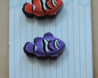 Clown Fish Buttons Fun In The Sun Collection by Buttons Galore Carded Set of 3