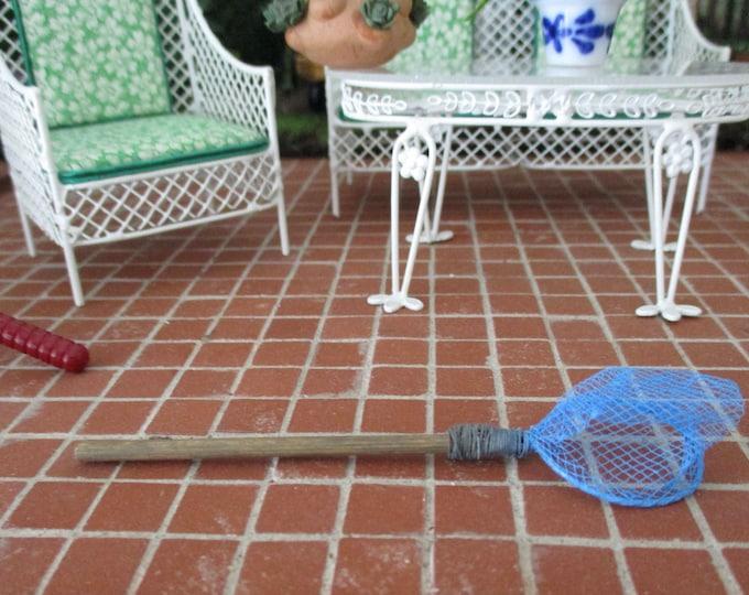 Miniature Fishing Net, Mini Wood Handle Fishing Net, Style #93, Dollhouse Miniture, Dollhouse Accessory, Decor, Crafts