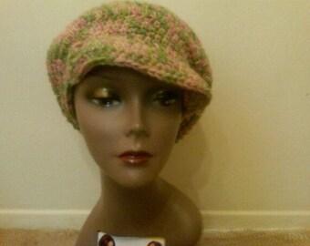 Crochet tam with brim