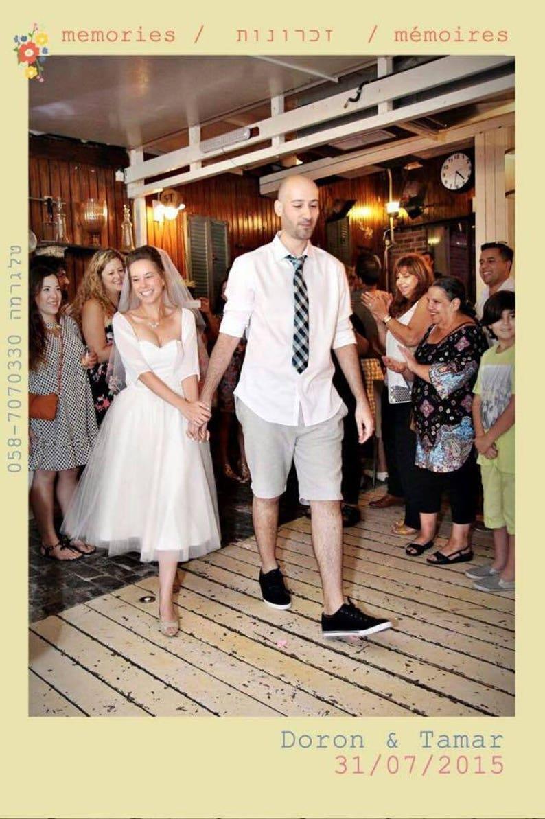 Short tulle wedding dress  engagement dress  tea length bridal gown Strapless wedding dress ballerina wedding dress   white tulle dress