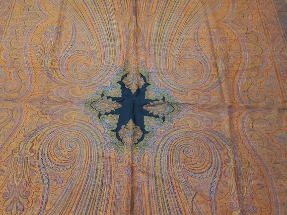 Antique Kashmir Paisley Victorian Handwoven Embroi