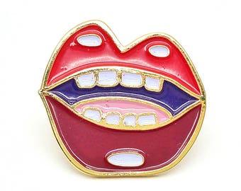 Lapel Pin - Hot Lips