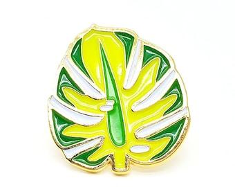 Lapel Pin - Majestic Monsterra Leaf