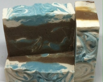 Blue Sugar Type Handmade Soap