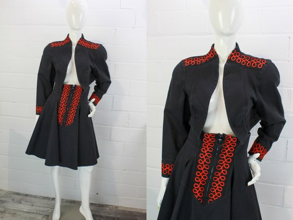 Vintage 1980s Bolero Jacket and Skirt Set by Price