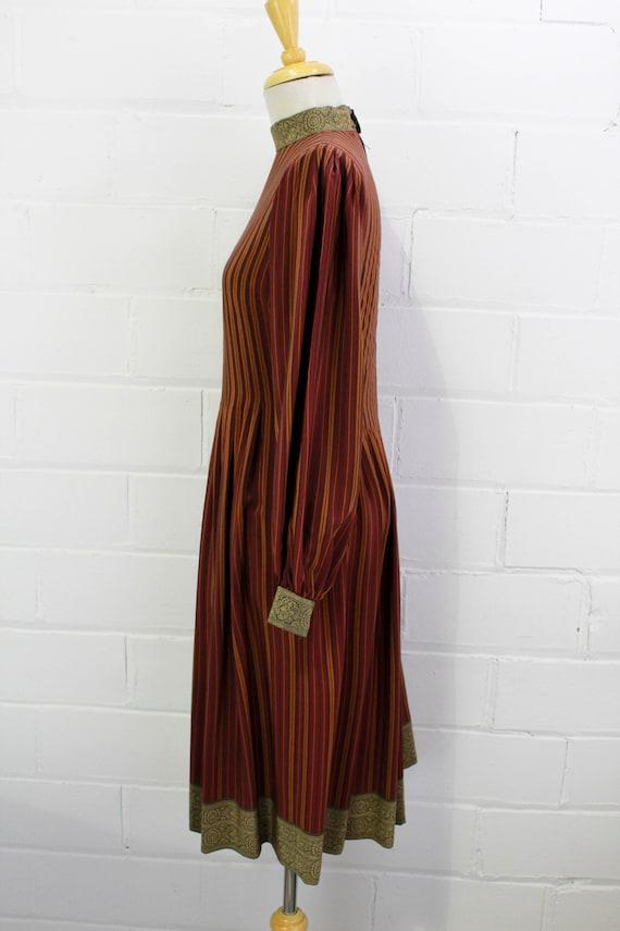 Vintage Pauline Trigere Striped Silk Day Dress, H… - image 6