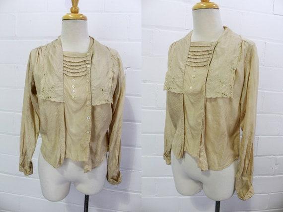 Antique 1900s Edwardian Silk Blouse