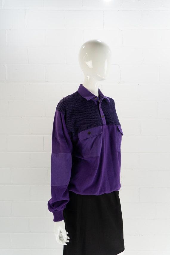 Vintage 80's NOS Purple Polo Sweatshirt,  J.J. Co… - image 5