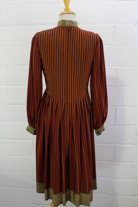 Vintage Pauline Trigere Striped Silk Day Dress, H… - image 10