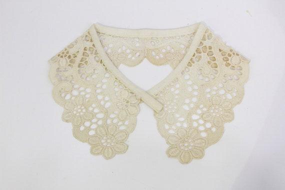 1930s Lace Collar for Blouses, Dress, Detachable L