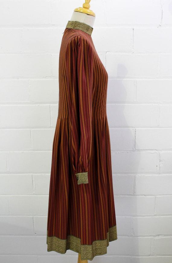 Vintage Pauline Trigere Striped Silk Day Dress, H… - image 4