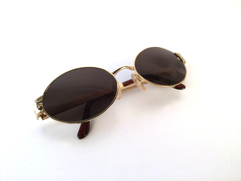 aa6b03047877 Vintage 1990s Oval YSL Sunglasses Vintage Yves St Laurent | Etsy