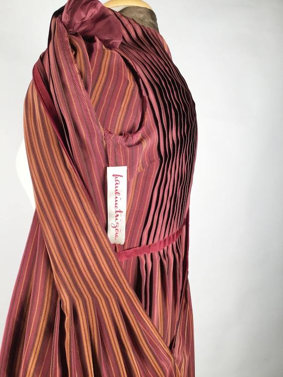 Vintage Pauline Trigere Striped Silk Day Dress, H… - image 8