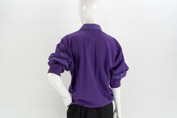Vintage 80's NOS Purple Polo Sweatshirt,  J.J. Co… - image 8