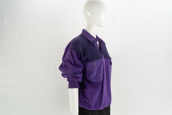 Vintage 80's NOS Purple Polo Sweatshirt,  J.J. Co… - image 4
