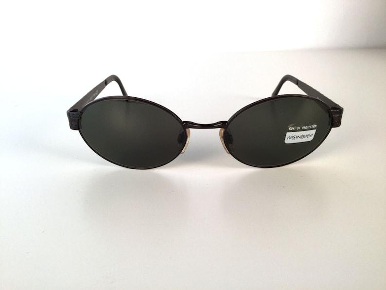 3ed3fd3010e Vintage 90s Oval YSL Sunglasses Vintage Yves St Laurent Red