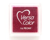 Ink Pad VersaColor PEONY  No. 16, small ink pad, red ink pad, Pigment Ink, red ink pad, rubber stamping ink, Embossing Ink, Versa Color
