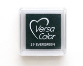 Mini Ink Pad VersaColor EVERGREEN No. 29, small, Pigment Ink, red ink pad, Stamp Pad, Embossing Ink, Multipurpose, Versa Color InkPad