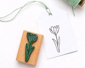 Stamp Crocus, spring deco, easter stamp, easter greetings, plant stamp, flower stamp, garden stamp, floral stamp, gardeners