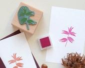 Botanical Rubber Stamp: Hazelnut, Botanical Stamp, Floral Stamp, Nut Stamp, Wood Stamp, Christmas Stamp, Gift Tags, Gift for Plant Lover,